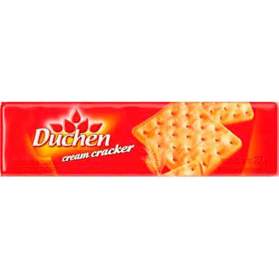 Biscoito salgado cream cracker 200g Duchen pacote PCT