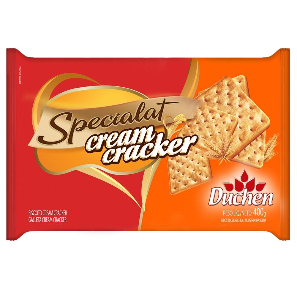 Biscoito salgado cream cracker 400g Specialat/Duchen pacote PCT