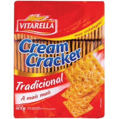Biscoito salgado cream cracker 400g Vitarella pacote PCT