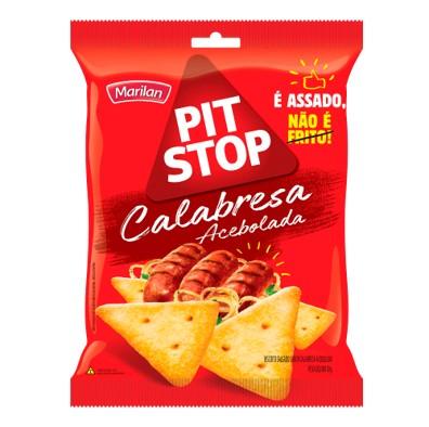 Biscoito salgado sabor calabresa acebolada pacote 80g Marilan/Pit Stop PCT