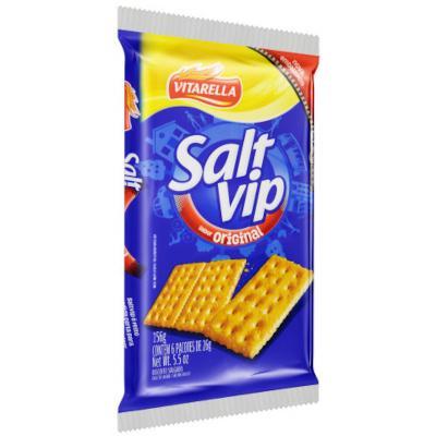 Biscoito salgado tradicional 156g SaltVip/Vitarella pacote PCT