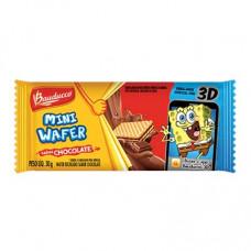 Biscoito wafer sabor chocolate unidades de 30g Bauducco em sachês UN