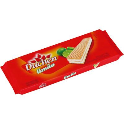 Biscoito wafer sabor limão 140g Duchen pacote PCT