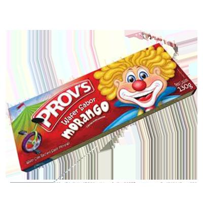 Biscoito wafer sabor morango 100g Provs pacote PCT