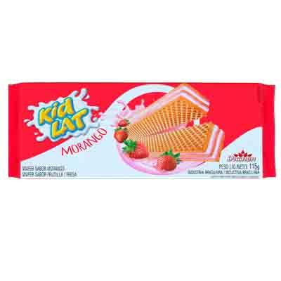 Biscoito wafer sabor morango 115g KidLat/Duchen pacote PCT