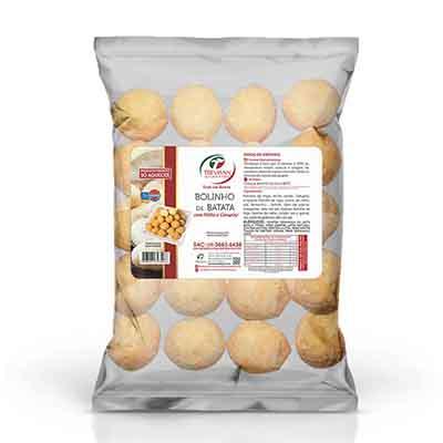 Bolinho de milho e catupiry com massa de batata congelado 25g pacote por kg Trevisan KG