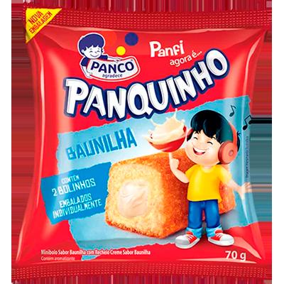 Bolinho sabor baunilha pacote 2 unidades 80g Panco/Panfi UN