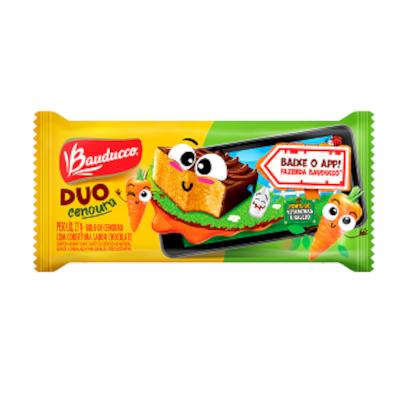 Bolinho sabor cenoura 15 unidades de 27g Bauducco/Duo caixa CX