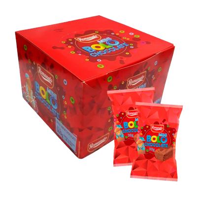 Bolinho sabor chocolate 12 unidades de 30g Romanato caixa CX
