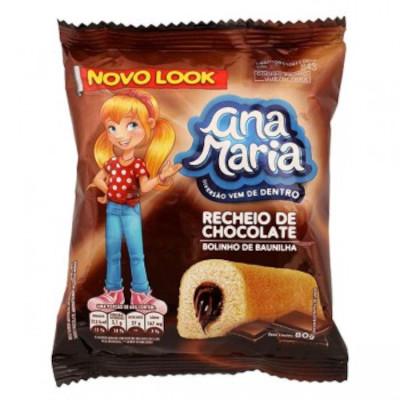 Bolinho sabor chocolate 2 unidades 80g Pullman/Ana Maria pacote UN
