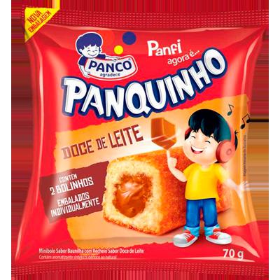 Bolinho sabor doce de leite pacote 2 unidades 80g Panco/Panfi UN