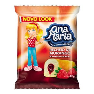 Bolinho sabor morango 2 unidades 80g Pullman/Ana Maria pacote UN