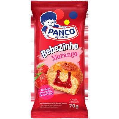 Bolinho sabor morango 70g Panco/Bebezinho pacote UN