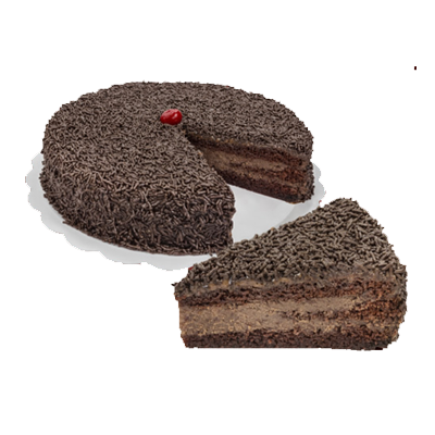 Bolo recheado sabor brigadeiro tradicional 16 fatias 2kg Empório das tortas  UN