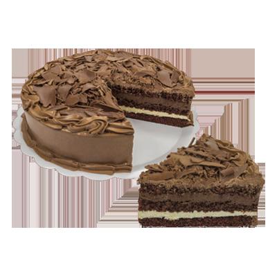 Bolo recheado sabor ninho com mousse de chocolate 16 fatias 2kg Empório das tortas  UN