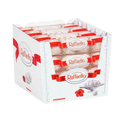 Bombom branco 16 pacotes com 03 unidades Ferrero Rocher/Raffaello caixa CX