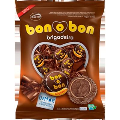 Bombom brigadeiro pacote 50 unidades Arcor Bonobon PCT