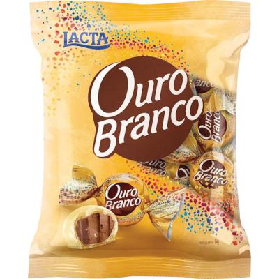 Bombom chocolate branco 1kg Ouro Branco pacote PCT