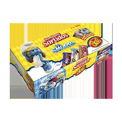 Bombom chocolate pacote 180g Smurfs PCT