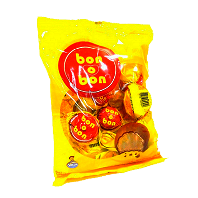 Bombom chocolate pacote 50 unidades Arcor Bonobon PCT
