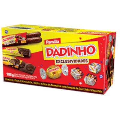 Bombom dadinho família exclusividades caixa 185g Dadinho CX