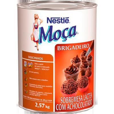 Brigadeiro pronto para consumo 2,57kg Nestlé/Moça lata UN