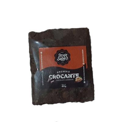 Brownie crocante de ganache com amendoim 80g Desejo Sabor UN