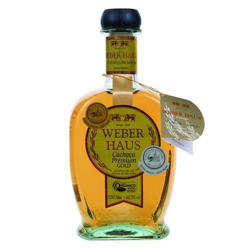 Cachaça Gold 750ml Weber Haus garrafa UN