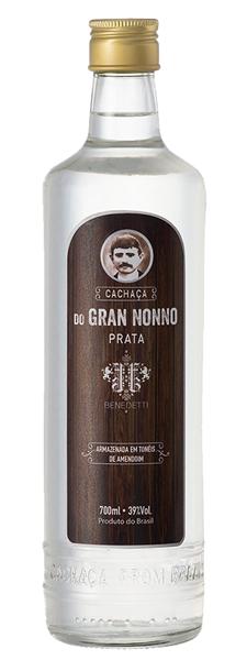 Cachaça Prata garrafa 700ml Gran Nonno/Benedetti UN