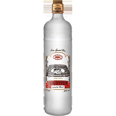 Cachaça Prata garrafa 910ml Velho Barreiro Glass Prata UN