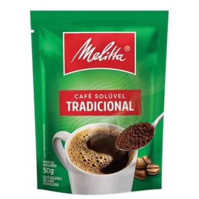 Café solúvel tradicional pacote 50g Melitta PCT