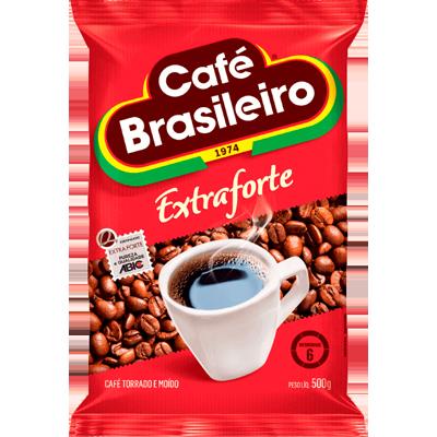 Café torrado e moído extra forte (em pó) 500g Brasileiro almofada UN