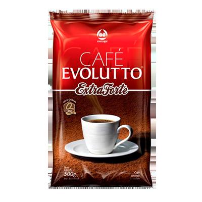 Café torrado e moído extra forte (em pó) almofada 500g Evolutto UN