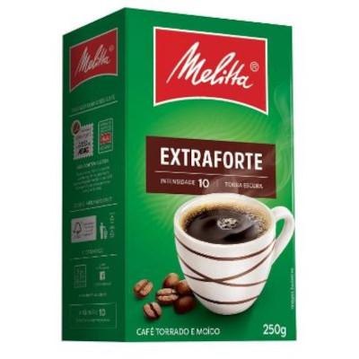 Café torrado e moído extra forte (em pó) 250g Melitta vácuo UN