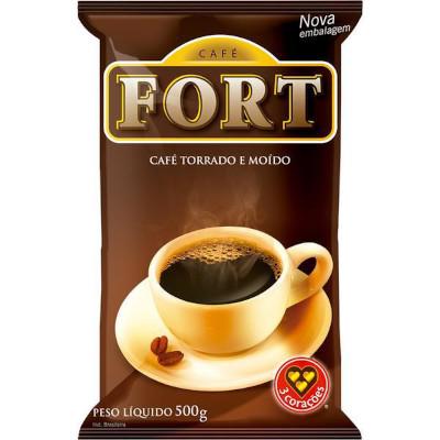Café torrado e moído tradicional 500g Fort almofada UN