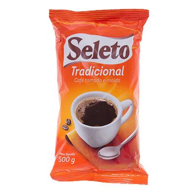 Café torrado e moído tradicional 500g Seleto almofada UN