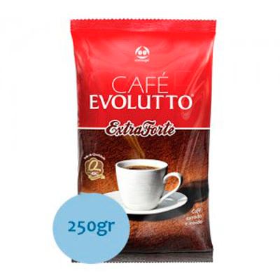 Café torrado e moído tradicional (em pó) almofada 250g Evolutto UN