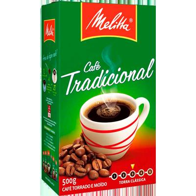 Café torrado e moído tradicional (em pó) 500g Melitta vácuo UN