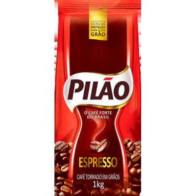 Café torrado em grãos espresso 1kg Pilão almofada UN