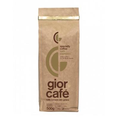 Café torrado em grãos gourmet almofada 500g Gior Café UN