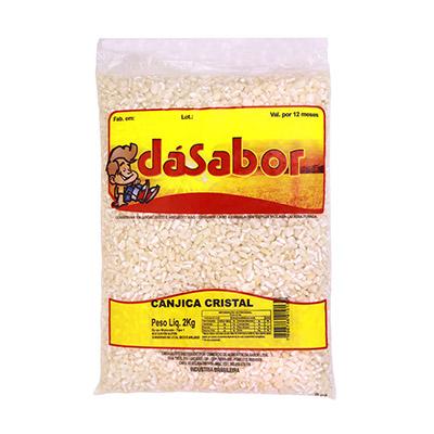 Canjica de milho pacote 2kg DáSabor PCT
