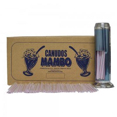 Canudo descartável embalado para milk shake 1.500 unidades Mambo pacote PCT