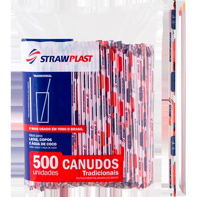 Canudo descartável embalado para refrigerante pacote 500 unidades Strawplast PCT
