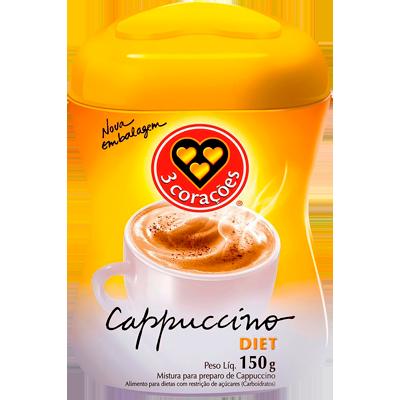 Cappuccino diet 150g 3 Corações pote POTE