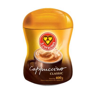 Cappuccino  400g 3 Corações pote PCT