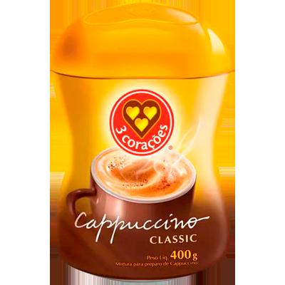 Cappuccino  400g 3 Corações/Classic pote POTE