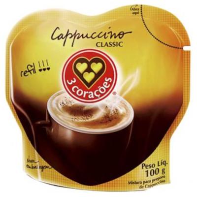 Cappuccino  100g 3 Corações/Classic refil POTE