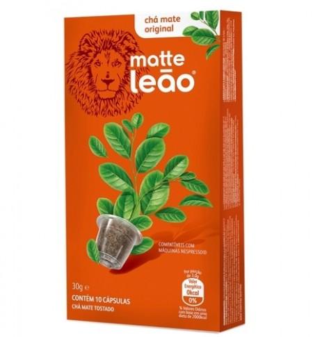 Cápsulas de Chá sabor Matte Natural 10 unidades de 3g Leão caixa CX