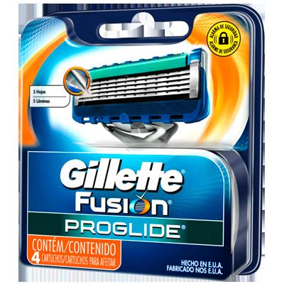 Carga para Aparelho de Barbear modelo Gillette Proglide embalagem 4 unidades Gillette UN