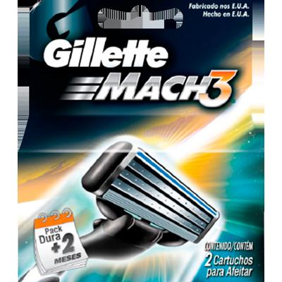 Carga para Aparelho de Barbear regular 2 unidades Gillette Mach3 embalagem UN